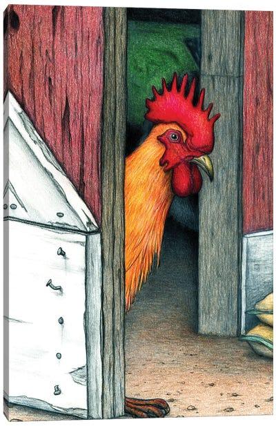 Your Barn Doors Open Canvas Art Print