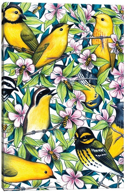 Birds And The Bees Canvas Art Print