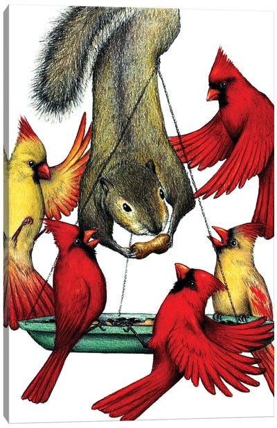 Cardinal Sin Canvas Art Print