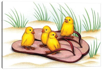 Chicks In Thongs Canvas Art Print