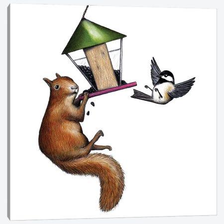 Flippin The Bird Canvas Print #DMH38} by Don McMahon Canvas Art Print