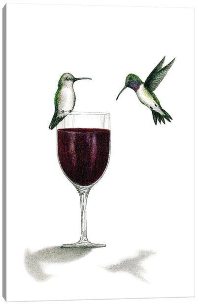 Hummers Nectar Canvas Art Print