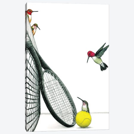 Mixed Doubles Canvas Print #DMH56} by Don McMahon Canvas Wall Art