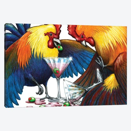Party Fowl Canvas Print #DMH66} by Don McMahon Canvas Print