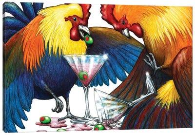 Party Fowl Canvas Art Print