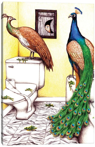 Pee Foul Canvas Art Print
