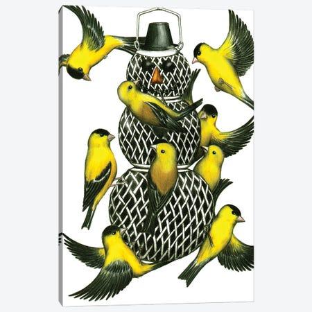 Snow Birds Canvas Print #DMH85} by Don McMahon Canvas Print