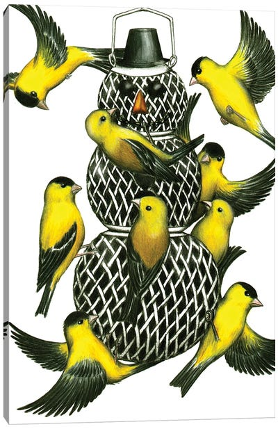 Snow Birds Canvas Art Print