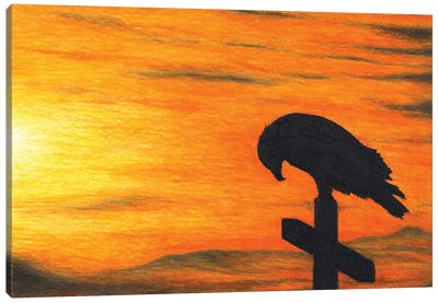 Bird Of Pray Canvas Art Print
