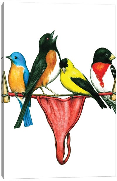 Thong Birds Canvas Art Print