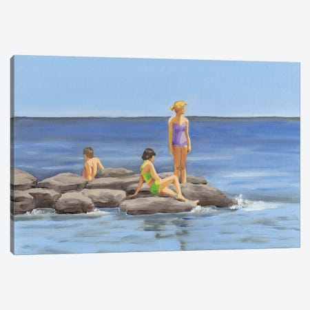 Beach Scene I Canvas Print #DMI14} by Dianne Miller Art Print