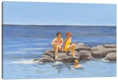 Beach Scene II Canvas Art Print