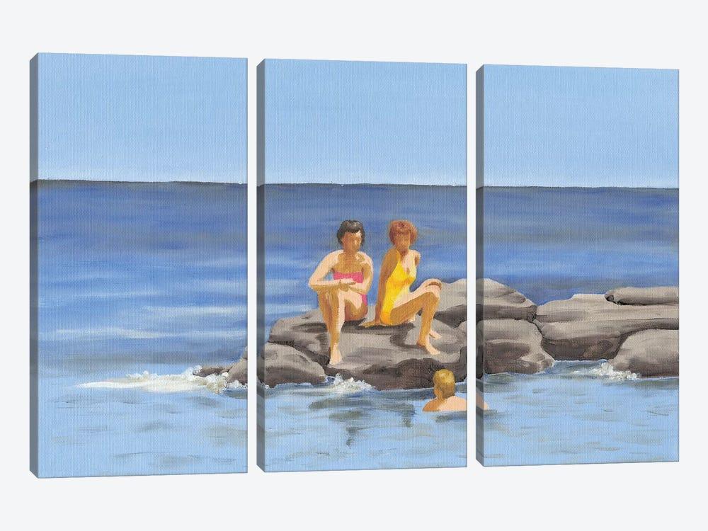 Beach Scene II by Dianne Miller 3-piece Canvas Art