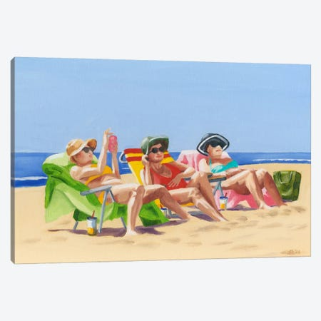Beach Vacation I Canvas Print #DMI1} by Dianne Miller Canvas Art