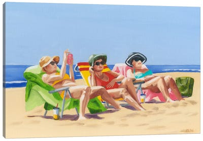 Beach Vacation I Canvas Art Print