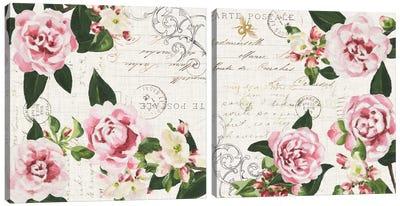 Ephemeral Roses Diptych Canvas Art Print