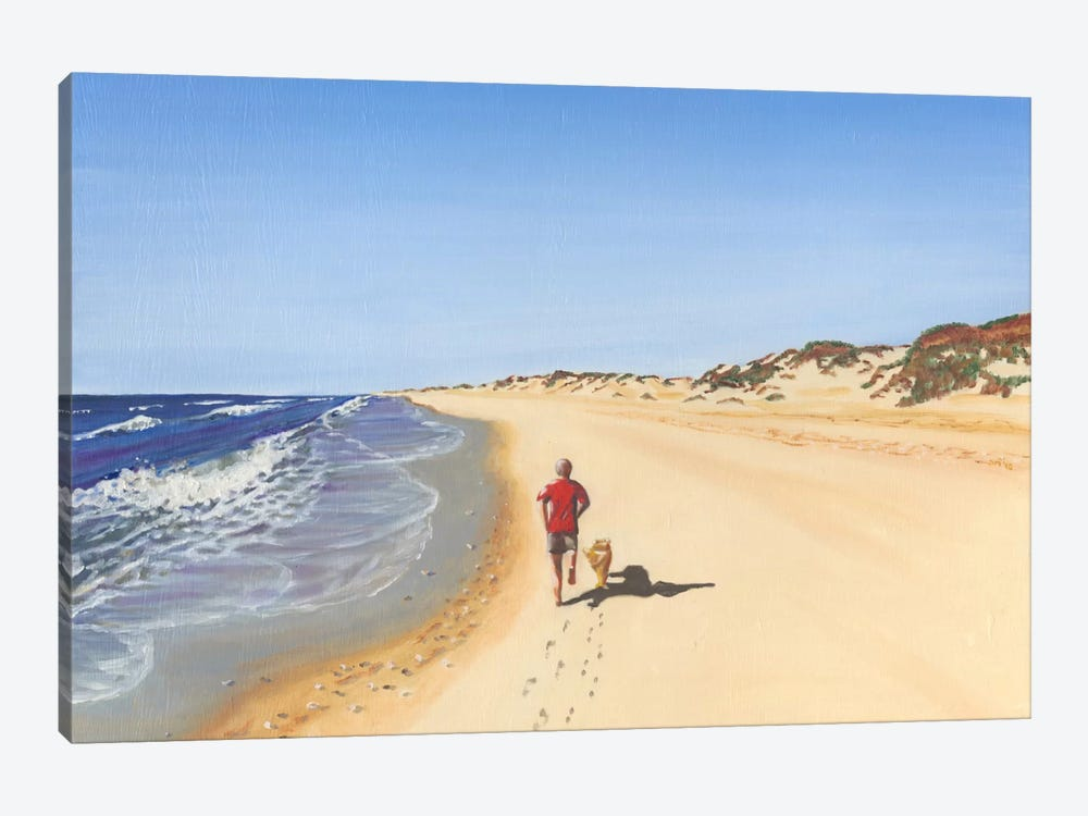 Beach Vacation V by Dianne Miller 1-piece Canvas Wall Art