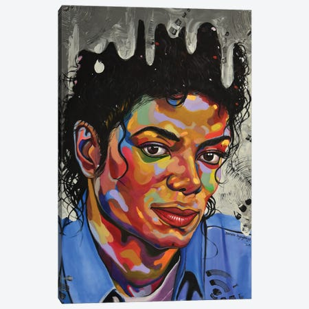Michael Jackson Canvas Print #DML13} by Damola Ayegbayo Art Print