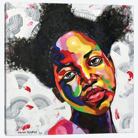 Free But Hungry Canvas Print #DML19} by Damola Ayegbayo Canvas Print