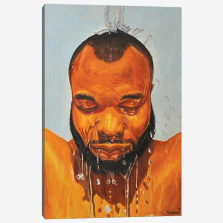 Self Portrait Canvas Print #DML28} by Damola Ayegbayo Canvas Art
