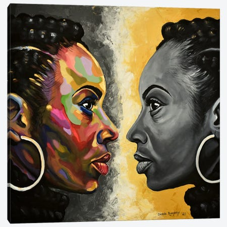 Soulmate Canvas Print #DML29} by Damola Ayegbayo Canvas Wall Art