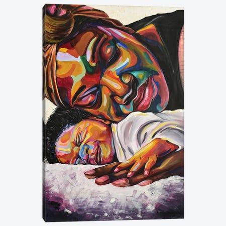 Maternal Bond Canvas Print #DML2} by Damola Ayegbayo Canvas Art Print