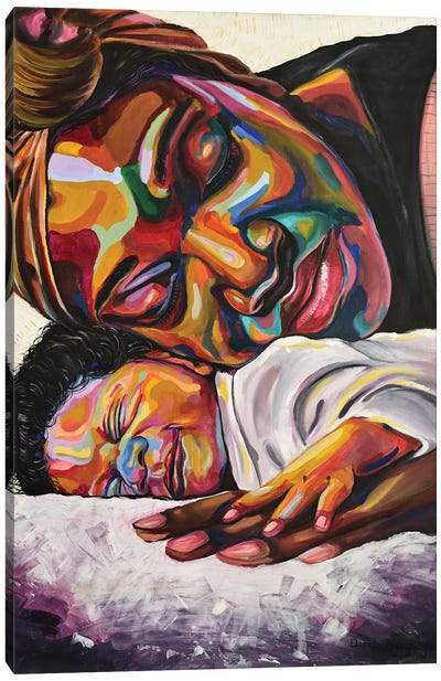 Maternal Bond Canvas Art Print