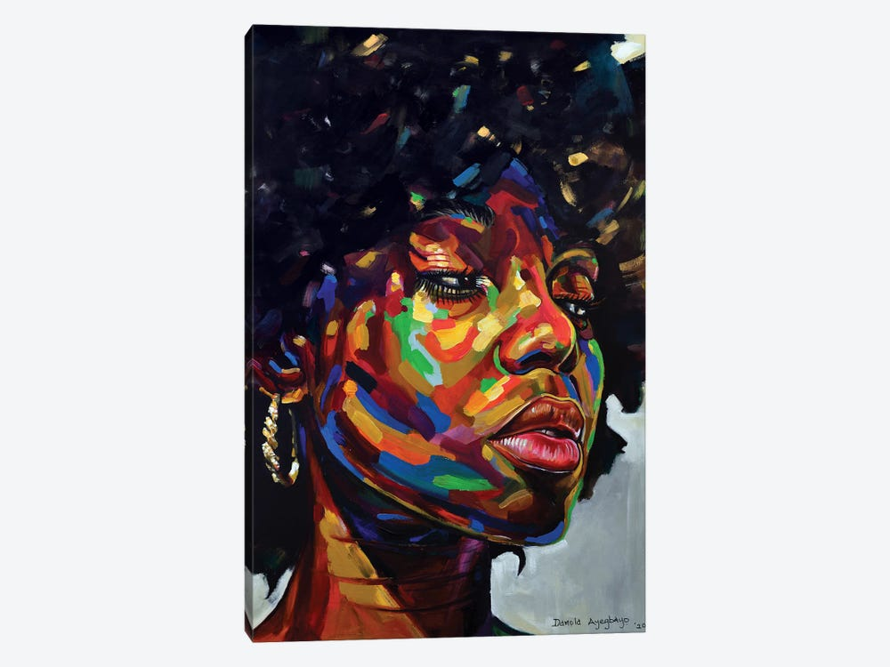 Free But Hungry III by Damola Ayegbayo 1-piece Canvas Art