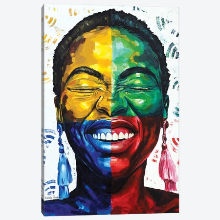 Celebrate Life IV Canvas Print #DML35} by Damola Ayegbayo Canvas Art
