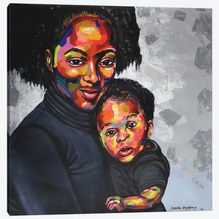 Maternal Bond II Canvas Print #DML42} by Damola Ayegbayo Canvas Artwork