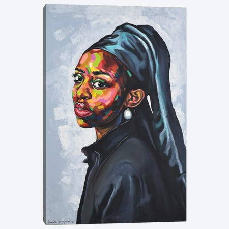 The Girl With A Pearl Earing Canvas Print #DML46} by Damola Ayegbayo Canvas Print