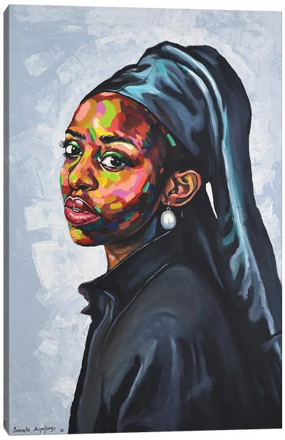 The Girl With A Pearl Earing Canvas Art Print