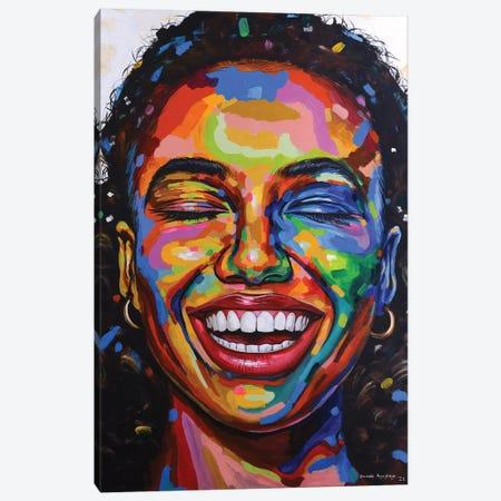 Celebrate Life VI Canvas Print #DML51} by Damola Ayegbayo Art Print