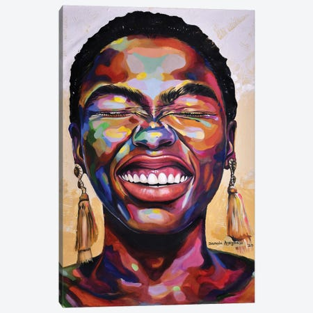 Celebrate Life II Canvas Print #DML7} by Damola Ayegbayo Canvas Artwork