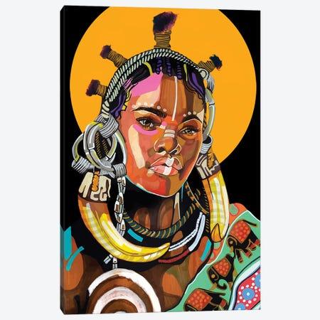 Queen is Black Canvas Print #DMQ104} by Domonique Brown Canvas Artwork