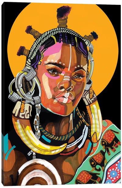 Queen is Black Canvas Art Print