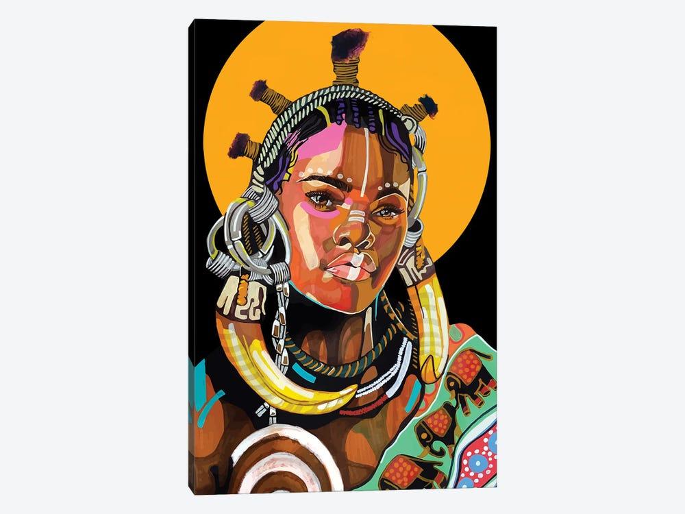 Queen is Black by Domonique Brown 1-piece Canvas Art Print