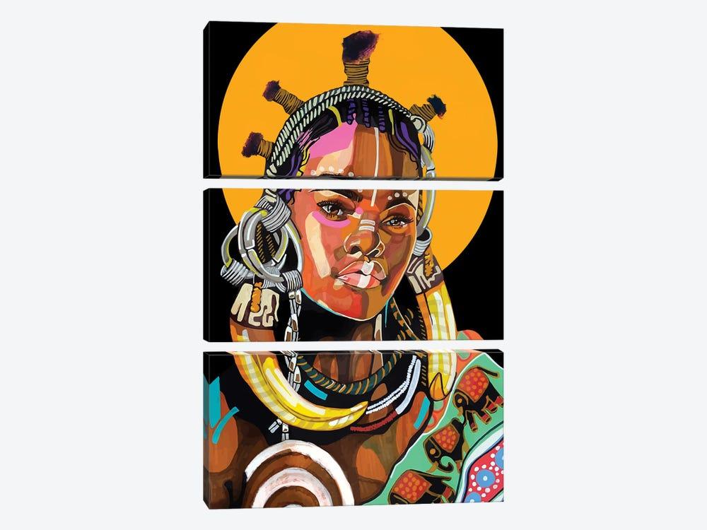 Queen is Black by Domonique Brown 3-piece Art Print