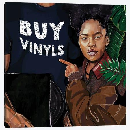 Buy Vinyls Canvas Print #DMQ106} by Domonique Brown Canvas Artwork