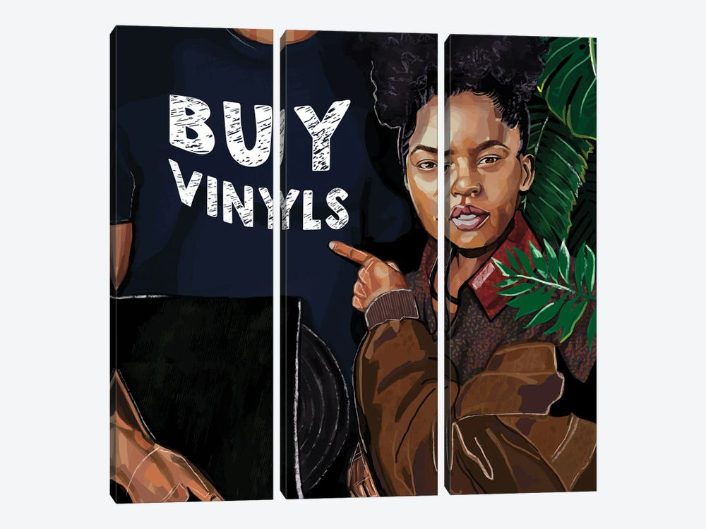 Buy Vinyls by Domonique Brown 3-piece Canvas Art Print