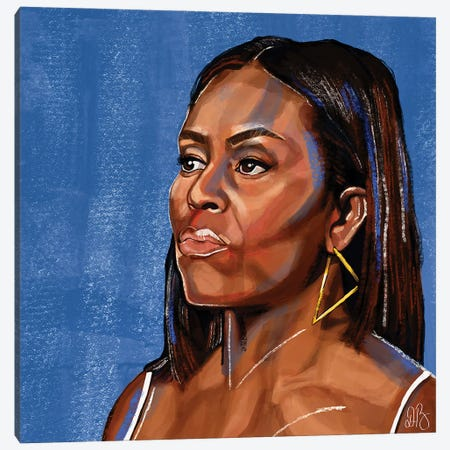 Obama Canvas Print #DMQ108} by Domonique Brown Art Print