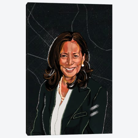 Kamala Harris Canvas Print #DMQ109} by Domonique Brown Art Print