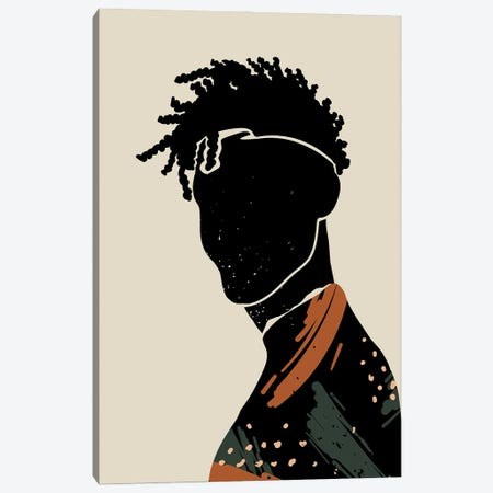 Black Hair II Canvas Print #DMQ10} by Domonique Brown Canvas Wall Art