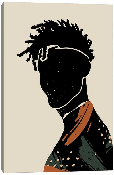 Black Hair II Canvas Art Print