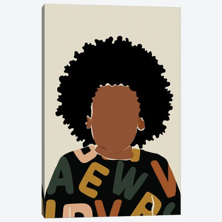 Baby Fro Canvas Print #DMQ112} by Domonique Brown Canvas Art