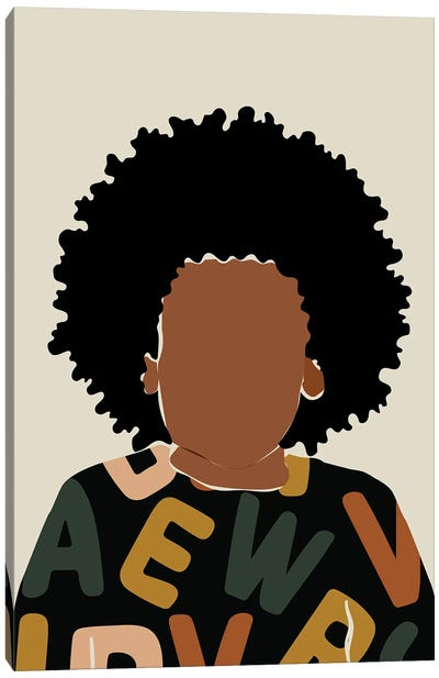 Baby Fro Canvas Art Print