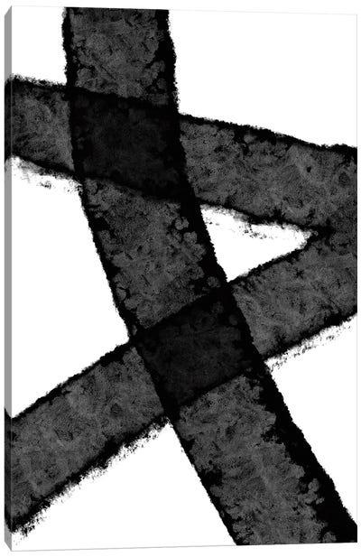 Mid Century Black Canvas Art Print