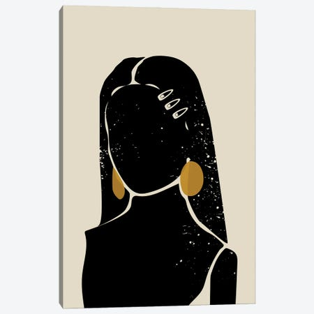 Black Hair III Canvas Print #DMQ11} by Domonique Brown Canvas Wall Art