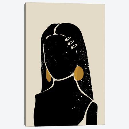 Black Hair III Canvas Print #DMQ11} by Domonique Brown Canvas Wall Art