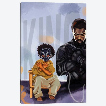 Black Panther Canvas Print #DMQ123} by Domonique Brown Canvas Art Print